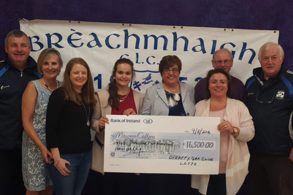Breaffy GAA lotto jackpot winner Maureen Collins