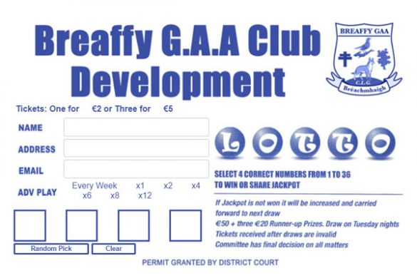 breaffy gaa lotto